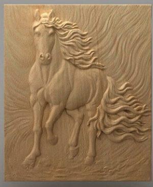 تابلو حیوانات اسب چوبی 1602