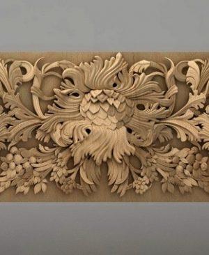 تابلو گل چوبی 1603