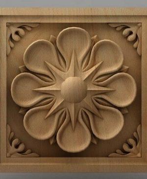 تابلو گل چوبی 1607
