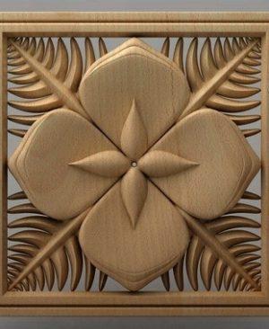 تابلو گل چوبی 1608
