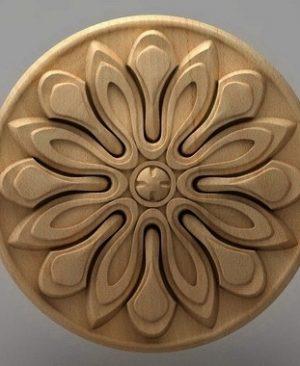منبت دکوری گرد چوبی5220