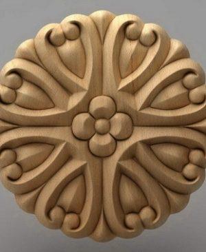 منبت دکوری گرد چوبی5223