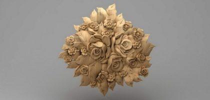 منبت دکوری گل چوبی 5405