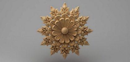 منبت دکوری گل چوبی 5408