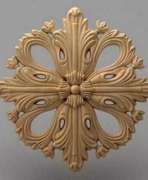 منبت دکوری گل چوبی 5416