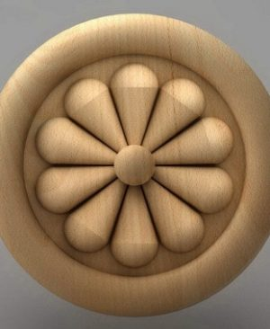 تابلوی منبت گل رز چوبی