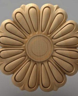 منبت دکوری گل چوبی 5438