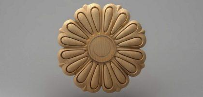 گل منبت کابینت چوبی