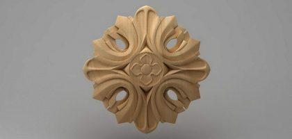 منبت دکوری گل چوبی 5439