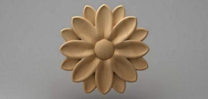 گل منبت چوبی