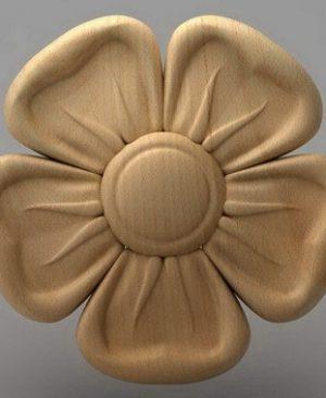 منبت دکوری گل چوبی