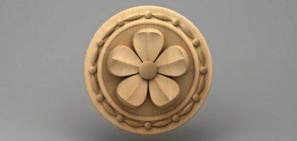 منبت دکوری گل چوبی 5447