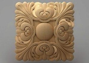منبت دکوری چهارگوش چوبی5043