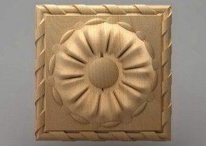منبت دکوری چهارگوش چوبی5040