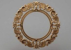 قاب آینه بیضی1205