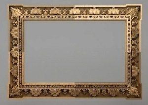 قاب آینه چهارگوش چوبی 1009