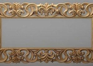 قاب آینه چهارگوش چوبی 1013