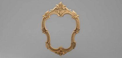 قاب آینه متقارن چوبی1305