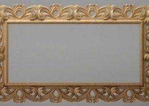 قاب آینه چهارگوش چوبی 1014