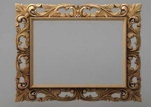 قاب آینه چهارگوش چوبی 1003