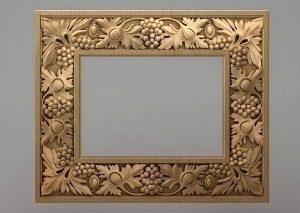 قاب آینه چهارگوش چوبی 1012