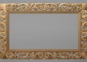 قاب آینه چهارگوش چوبی 1010