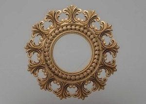 قاب آینه گرد چوبی 1211