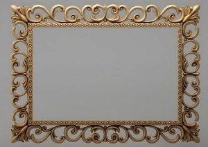 قاب آینه چهارگوش چوبی 1004