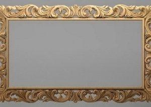 قاب آینه چهارگوش چوبی 1005