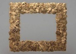 قاب آینه چهارگوش چوبی 1006