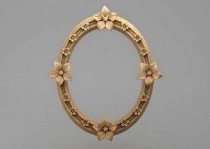 قاب آینه گرد متقارن چوبی1302