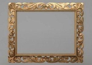 قاب آینه چهارگوش چوبی 1015