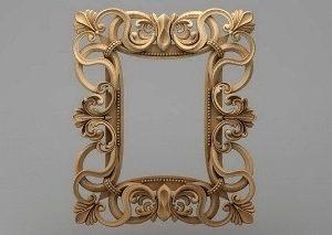 قاب آینه چهارگوش چوبی 1022