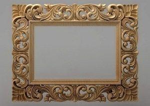 قاب آینه چهارگوش چوبی 1002