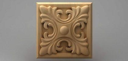منبت دکوری چهارگوش چوبی5021