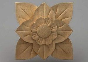 منبت دکوری چهارگوش چوبی5036
