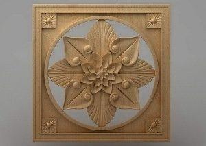 منبت دکوری چهارگوش چوبی5034