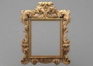 قاب آینه چهارگوش چوبی 1025