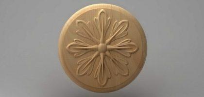 منبت دکوری گرد چوبی5203