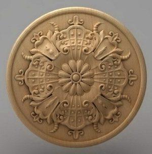 منبت دکوری گرد چوبی5206