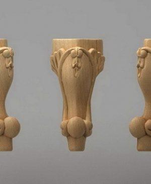 پایه منبت چوبی
